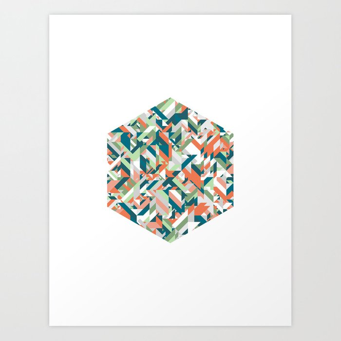 Summer Geometric Art Print
