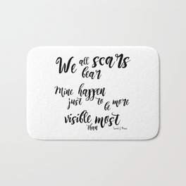 scars (throne of glass) Bath Mat