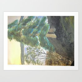 Vacation Mountain Water Color Art Print