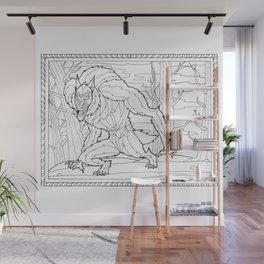 Werewolf from the Bestiary Coloring Book Wall Mural