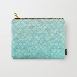 Teal Mermaid Scales Carry-All Pouch
