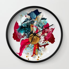 Carpe mortem Wall Clock