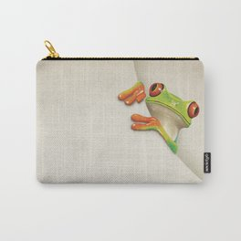 Little Red Eyed Tree Frog Carry-All Pouch