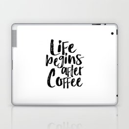 life begins after coffee,but first coffee,coffee sign,kitchen sign,home decor wall art,morning Laptop & iPad Skin