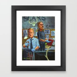 True Detective: Marty Hart and Rust Cohle Framed Art Print