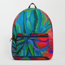 WESTERN MODERN ART OF BLUE AGAVES RED-TEAL Backpack