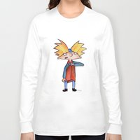 arnold Long Sleeve T-shirts featuring Hey Arnold!  by laura nye.