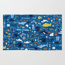 Life Aquatic Plot Pattern Rug