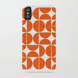 Mid Century Modern Geometric 04 Orange iPhone Case