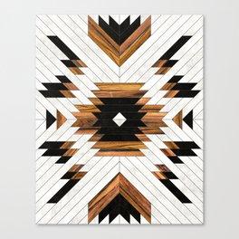 Urban Tribal Pattern 5 - Aztec - Concrete and Wood Canvas Print