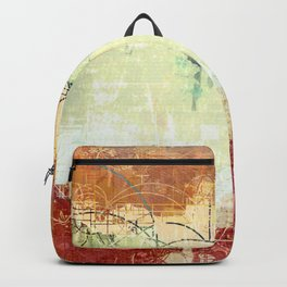 Vintage Abstract Art Backpack