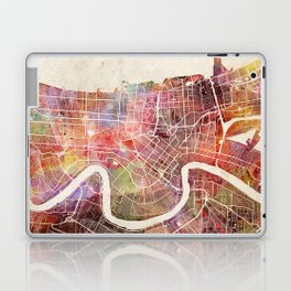 New Orleans map Laptop & iPad Skin