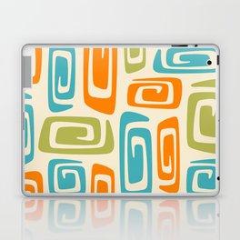 Mid Century Modern Cosmic Abstract 738 Orange Blue and Green Laptop & iPad Skin