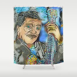 King of Blues Shower Curtain