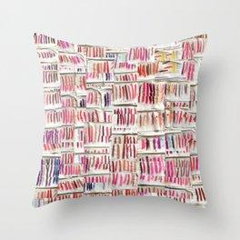 Lipstick Swatches Throw Pillow