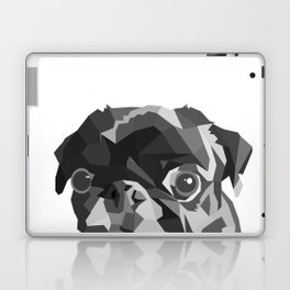 Pug Geometric art Black pugs Dog portrait Pet Laptop & iPad Skin