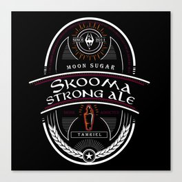 Strong Ale Skooma Canvas Print