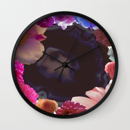 AGATE FLOWERS Wall Clock