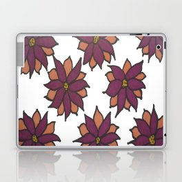 Holiday Two-Toned Flowers Laptop & iPad Skin