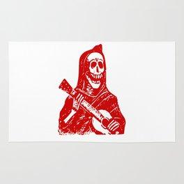 Grim Reaper With Guitar Rug