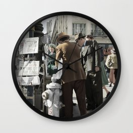 San Francisco Newspapers c.1941 - Colourised Wall Clock