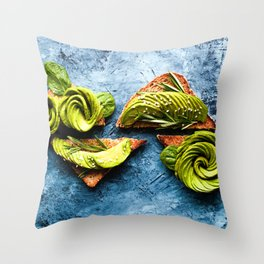 Avocado Foodie Art Throw Pillow