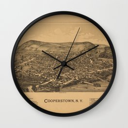 Cooperstown New York 1890 Wall Clock