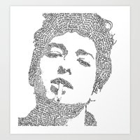 bob dylan Art Prints featuring Bob Dylan by S. L. Fina