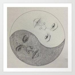 Twin-Yang Art Print
