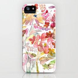 Wild flowers IV iPhone Case