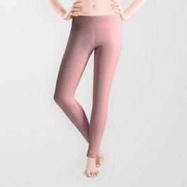 Solid Powder Pink Color Leggings