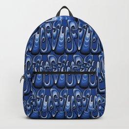 Surf Typography - Deep Blue Backpack