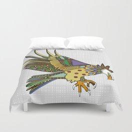jewel eagle white Duvet Cover