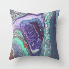 Cosmic Horse, Abstract Fluid Acrylic Painting Throw Pillow