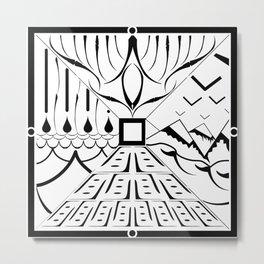 Land, Sea, Sky, and Mountains Tile Metal Print