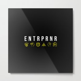 ENTRPRNR - Entrepreneur with Icons Metal Print