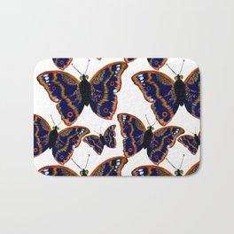 Purple Emperor Butterflies Bath Mat