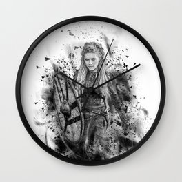 Ink Lagertha Wall Clock