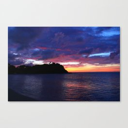 sunset friars bay Canvas Print