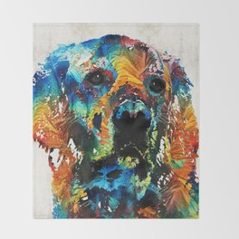 Colorful Dog Art - Heart And Soul - By Sharon Cummings Throw Blanket