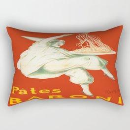 Vintage poster - Pates Baroni Rectangular Pillow