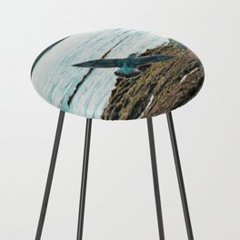 Seagull Flight by the beach Counter Stool