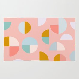 Pretty Geometric Painting Rug