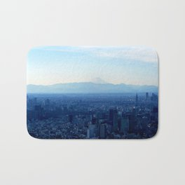Fuji in the Distance Bath Mat