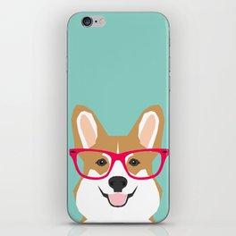 Teagan Glasses Corgi cute puppy welsh corgi gifts for dog lovers and pet owners love corgi puppies iPhone Skin