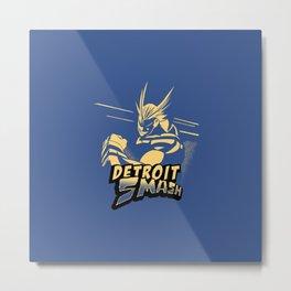 All Might Detroit Smash Metal Print
