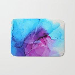 Aqua Pop - Alcohol Ink Painting Bath Mat