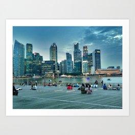 Marina Bay Promenade Art Print