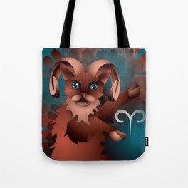 aries ZodiaCat Tote Bag