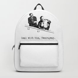 James Joyce x Ernest Hemingway - Drunken Shenanigans Painting Backpack